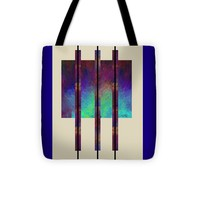 """abstract - art- Earth Song Tote Bag for Sale by Ann Powell (13"""" x 13"""")"""