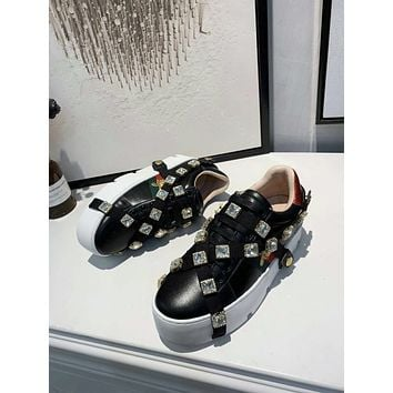 Gucci Women's Leather Fashion Sneakers Shoes