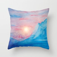 Pastel vibes watercolor 02 Throw Pillow by Viviana Gonzalez