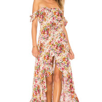 AUGUSTE Willow Day Dress in Long Beach Floral Natural