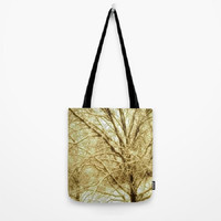 Trees, Bronze, Sepia, Winter, Nature - Tote Bag - 3 Sizes Available - Baby Shower, Grocery, Beach, Busy Mom, Student - Made To Order - BW#16