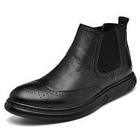 Men's Combat Boots Nappa Leather Fall Casual / British Boots Walking Shoes Non-slipping Booties / Ankle Boots Black / Athletic