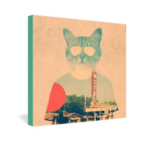 Ali Gulec Cool Cat Gallery Wrapped Canvas