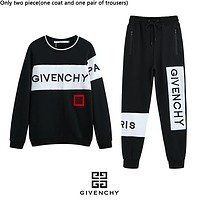 Givenchy hot selling fashion couples patchwork color letters embroidery Logo hoodie set