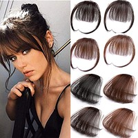 HOUYAN HAIR 6inch 4Color Clip In Hair Bangs Hairpiece Accessories Synthetic Fake Bangs Hair Piece Clip In Hair Extensions
