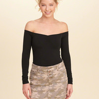 Girls Slim Off-The-Shoulder Top | Girls Tops | HollisterCo.com