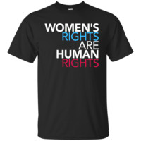 Women's right are human rights blue red Custom Ultra Cotton T-Shirt