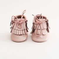 Hi-Top Baby Leather Moccasins Pink Lemonade