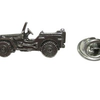 Silver Toned Jeep Car Lapel Pin