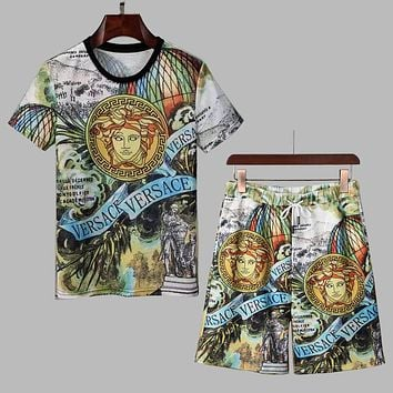 Versace Trending men's  Stylish Business new  casual sports suit two-piece