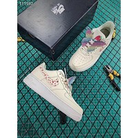 Nike Air Force 1 AF1 Low GS Fashion Shoes Vanilla Strawberry