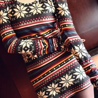 Aztec Tribal Long Sleeve