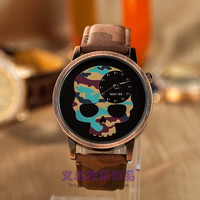 Gift New Arrival Trendy Stylish Designer's Great Deal Good Price Awesome Hot Sale Vintage Skull Camouflage Quartz Unisex Watch [4933058436]