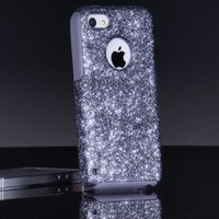 OtterBox Commuter Series Case for iPhone 5c - Custom Glitter Case Retail Packaging - Smoke/Grey