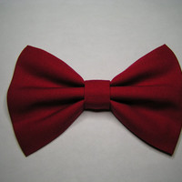 Red Hair Bow for kids adults, Fabric Hair Bows, Hair Bows for teens, big red bow