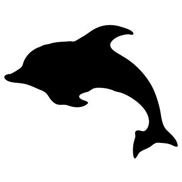 Black Dolphin Waterproof Temporary Tattoos Lasts 3 to 4 days Choose Small, Medium or Large Sizes