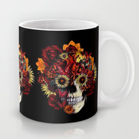 Full circle...Floral ohm skull Mug by Kristy Patterson Design | Society6