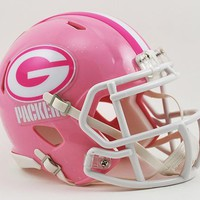 Green Bay Packers Pink Speed Mini Helmet