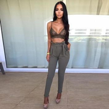 Diane High-Waisted Pencil Trousers
