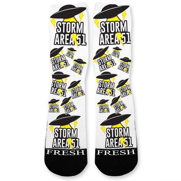 Storm Area 51 UFO Custom Athletic Fresh Socks
