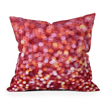 Lisa Argyropoulos Holiday Cheer Sparkling Wine Throw Pillow