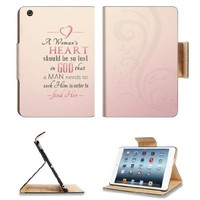A Woman's Heart Quote Apple Ipad Mini Flip Case Stand Smart Magnetic Cover Open Ports Customized Made to Order Support Ready Premium Deluxe Pu Leather 8 Inch (205mm) X 5 1/2 Inch (140mm) X 11/16 Inch (17mm) msd Ipad Mini Professional Ipadmini Cases Ipad_mi
