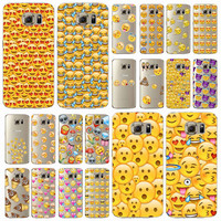 Phone Cases For Samsung Galaxy S6 S6Edage S6Edge+ S7 S7Edge Transparent Soft Silicon Emoji Cases Cover