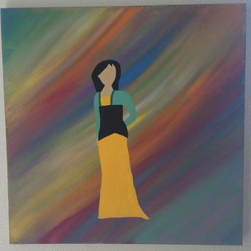 Hand painted on wood framed canvas - Disney's Mulan