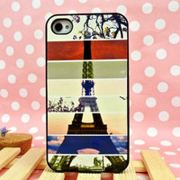 Cool Colourful Eiffel Tower Hard Cover Case For Iphone 4/4s