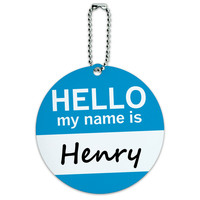 Henry Hello My Name Is Round ID Card Luggage Tag