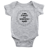 I Am Fearfully And Wonderfully Made - Psalms Baby Onesuit
