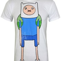 Adventure Time Finn Distressed Men's White T-Shirt - Buy Online at Grindstore.com