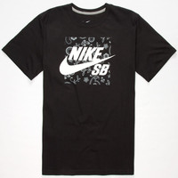 Nike Sb Paisley Icon Mens T-Shirt Black  In Sizes