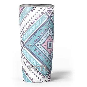 Tribal Vector Ethnic Pattern v3 - Skin Decal Vinyl Wrap Kit compatible with the Yeti Rambler Cooler Tumbler Cups