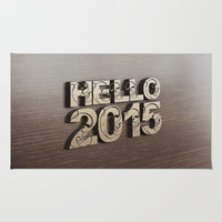 HELLO 2015 ! Rug by Nirvana.K