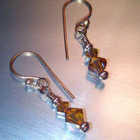 Simply Swarovski Copper Earrings