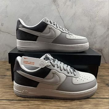 Morechoice Tuhy Nike Air Force 1 07 Lv8 Triple Grey Low Sneakers Casual Skaet Shoes AO2425-001
