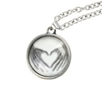 LOVEsick X-Ray Heart Hands Necklace
