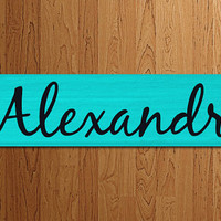 Cheerleading Sign Personalized Sports Baseball Basketball Soccer Football - Kids Room Decor/Gift - Wooden Sign