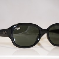 RAY-BAN Womens Designer Sunglasses Black Oval RB 4189 601 17006