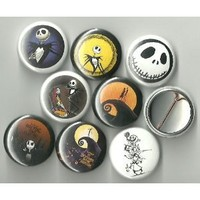 """The Nightmare Before Christmas Lot of 8 1"""" Pinback Buttons/Pins"""