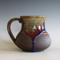 Pottery Mug, 14 oz, handmade ceramic cup, handthrown mug, stoneware mug, pottery mug, unique coffee mug, ceramics and pottery