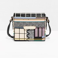 & Other Stories | Graphic Leather Bag | Black