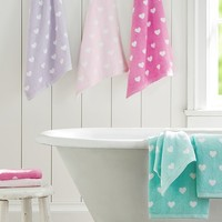 Heart Bath Towel Collection | Pottery Barn Kids