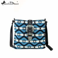 Montana West MW128-8316 Western Aztec Messenger Bag