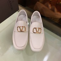 Valentino Men's Leather VLOGO Loafers Shoes