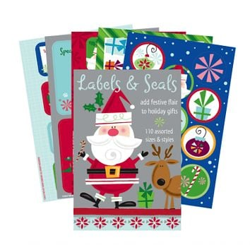 In Santa Style Labels and Seals Book