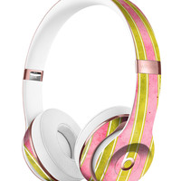 Inverted Yellow and Red Verticle Stripes Full-Body Skin Kit for the Beats by Dre Solo 3 Wireless Headphones