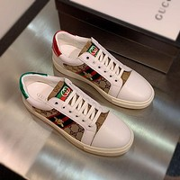 Gucci Men Fashion Boots fashionable Casual leather Breathable Sneakers Running Shoes-1227