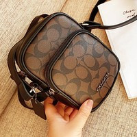 COACH Fashion Women Men Leather Crossbody Satchel Shoulder Bag